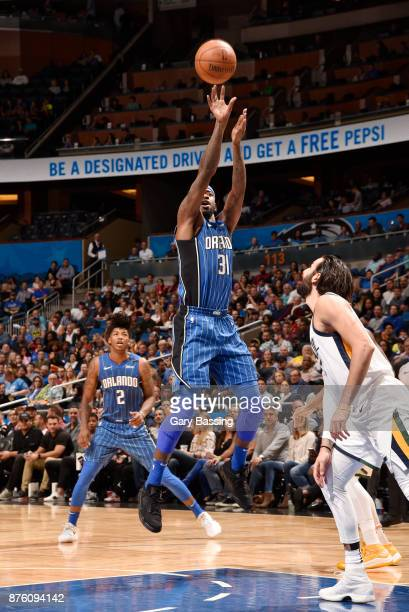 Terrence Ross of the Orlando Magic shoots the ball against the Utah Jazz on November 18 2017 at Amway Center in Orlando Florida NOTE TO USER User...