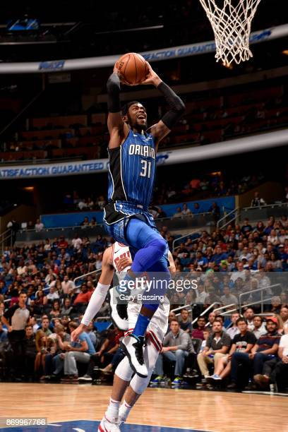 Terrence Ross of the Orlando Magic shoots the ball during the game against the Chicago Bulls on November 3 2017 at Amway Center in Orlando Florida...