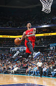Terrence Ross of the Toronto Raptors dunks against the Charlotte Hornets on March 6 2015 at Time Warner Cable Arena in Charlotte North Carolina NOTE...