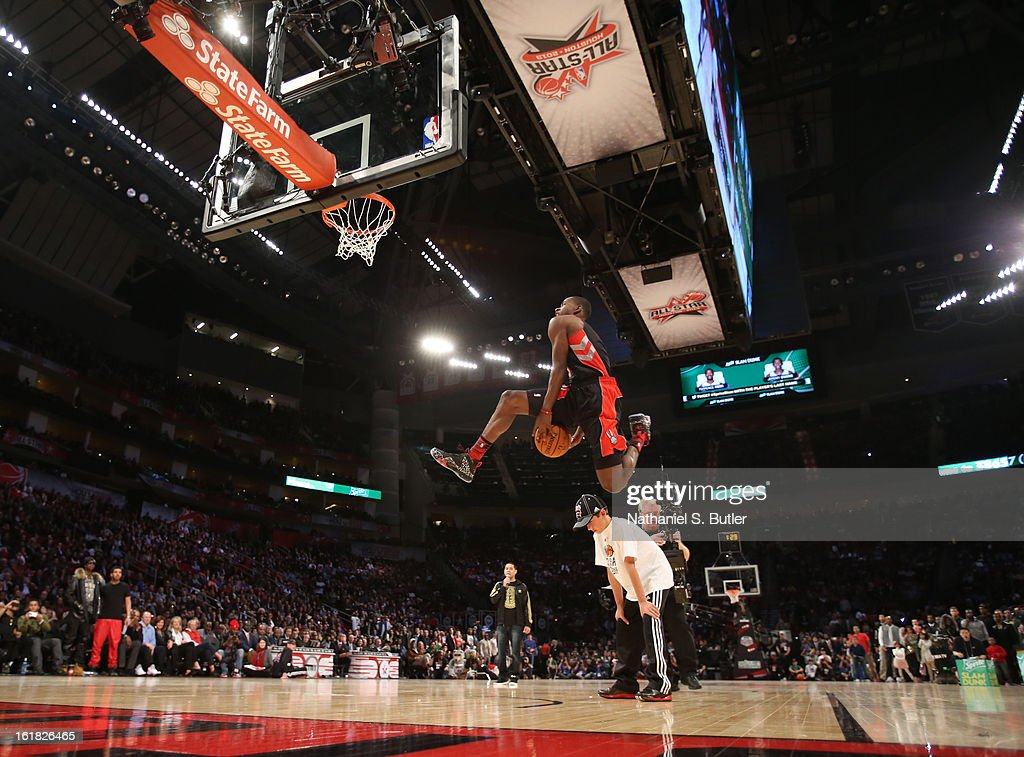 <a gi-track='captionPersonalityLinkClicked' href=/galleries/search?phrase=Terrence+Ross&family=editorial&specificpeople=6781663 ng-click='$event.stopPropagation()'>Terrence Ross</a> #31 of the Toronto Raptors during the 2013 Sprite Slam Dunk Contest on State Farm All-Star Saturday Night as part of the 2013 NBA All-Star Weekend on February 16, 2013 at the Toyota Center in Houston, Texas.