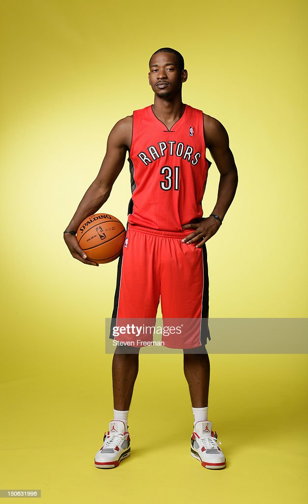 Terrence Ross #31 of the Toronto Raptors poses for a portrait during the 2012 NBA rookie photo shoot on August 21, 2012 at the MSG Training Facility in Tarrytown, New York.