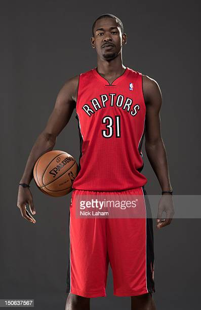 Terrence Ross of the Toronto Raptors poses for a portrait during the 2012 NBA Rookie Photo Shoot at the MSG Training Center on August 21 2012 in...