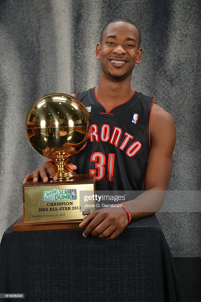 Terrence Ross of the Toronto Raptors poses for portraits with the 2013 Sprite Slam Dunk Trophy during State Farm All-Star Saturday Night as part of 2013 NBA All-Star Weekends at Toyota Center on February 16, 2013 in Houston, Texas.
