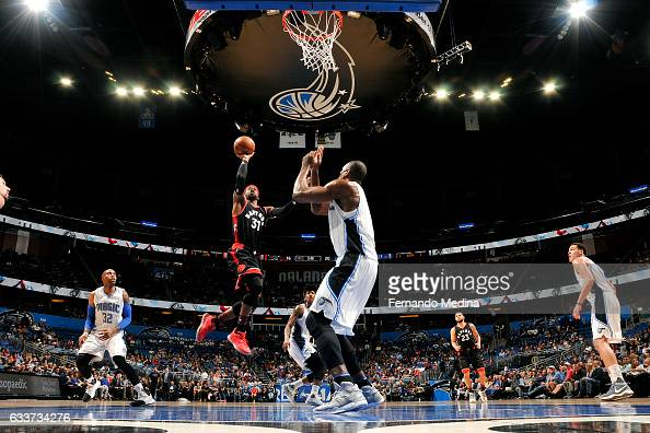 Terrence Ross of the Toronto Raptors shoots the ball during the game against the Orlando Magic on February 3 2017 at Amway Center in Orlando Florida...