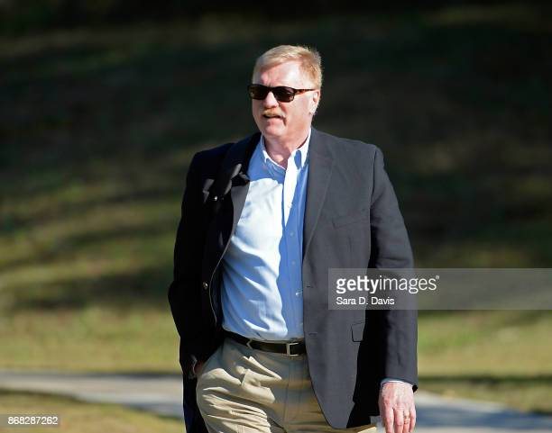 Terrence Russell of the Pentagon's Joint Personnel Recovery Agency leaves the Ft Bragg military courthouse during the Bowe Bergdahl sentencing...