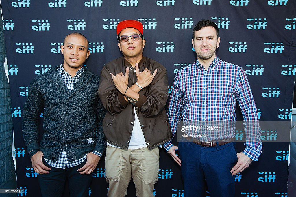 Terrence Santos, Geologic and Dan Torok attend the world premiere of 'The Otherside' during the Seattle International Film Festival at SIFF Cinema Uptown on May 31, 2013 in Seattle, Washington.
