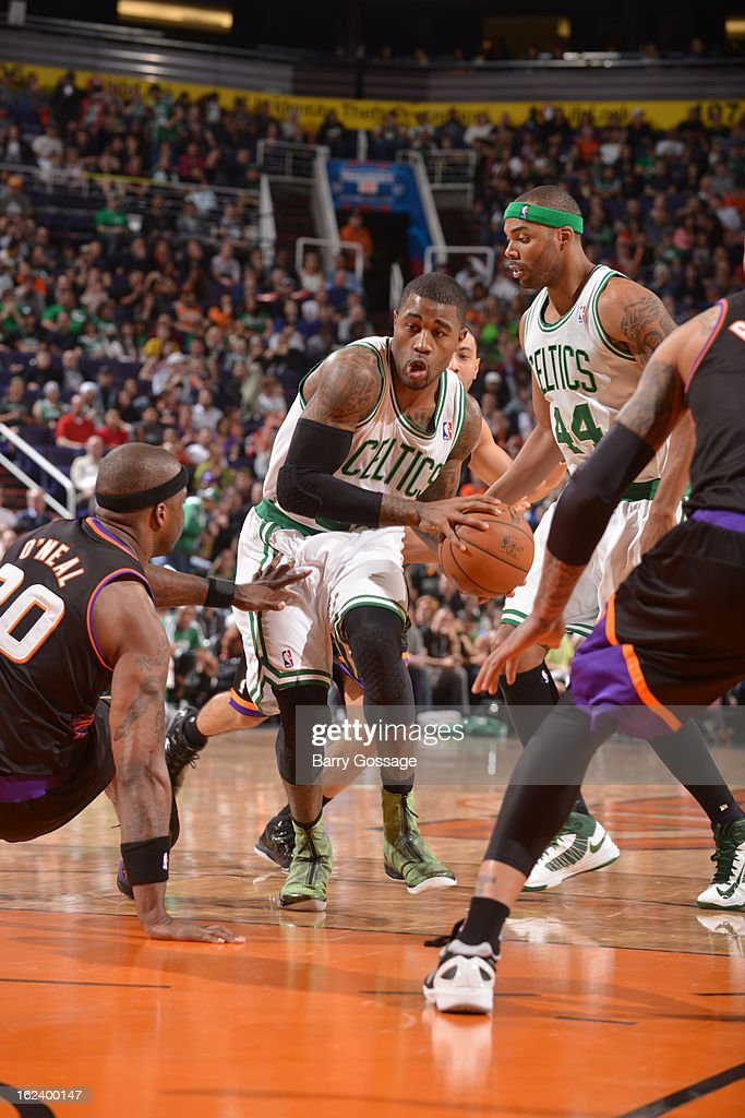 <a gi-track='captionPersonalityLinkClicked' href=/galleries/search?phrase=Terrence+Williams&family=editorial&specificpeople=666450 ng-click='$event.stopPropagation()'>Terrence Williams</a> #55 of the Boston Celtics drives to the basket against the Phoenix Suns on February 22, 2013 at U.S. Airways Center in Phoenix, Arizona.