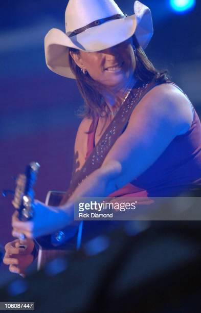 Terri Clark during CMA Music Festival Nightly Concert at The Coliseum Day 2 at The Coliseum in Nashville Tennessee United States