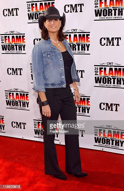 Terri Clark during CMT 2004 Flame Worthy Video Music Awards Arrivals at Gaylord Entertainment Center in Nashville Tennessee United States