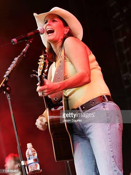 Terri Clark during Terri Clark in Concert at Verizon Wireless Amphitheater in Bonner Springs May 28 2005 at Verizon Wireless Amphitheater in Bonner...
