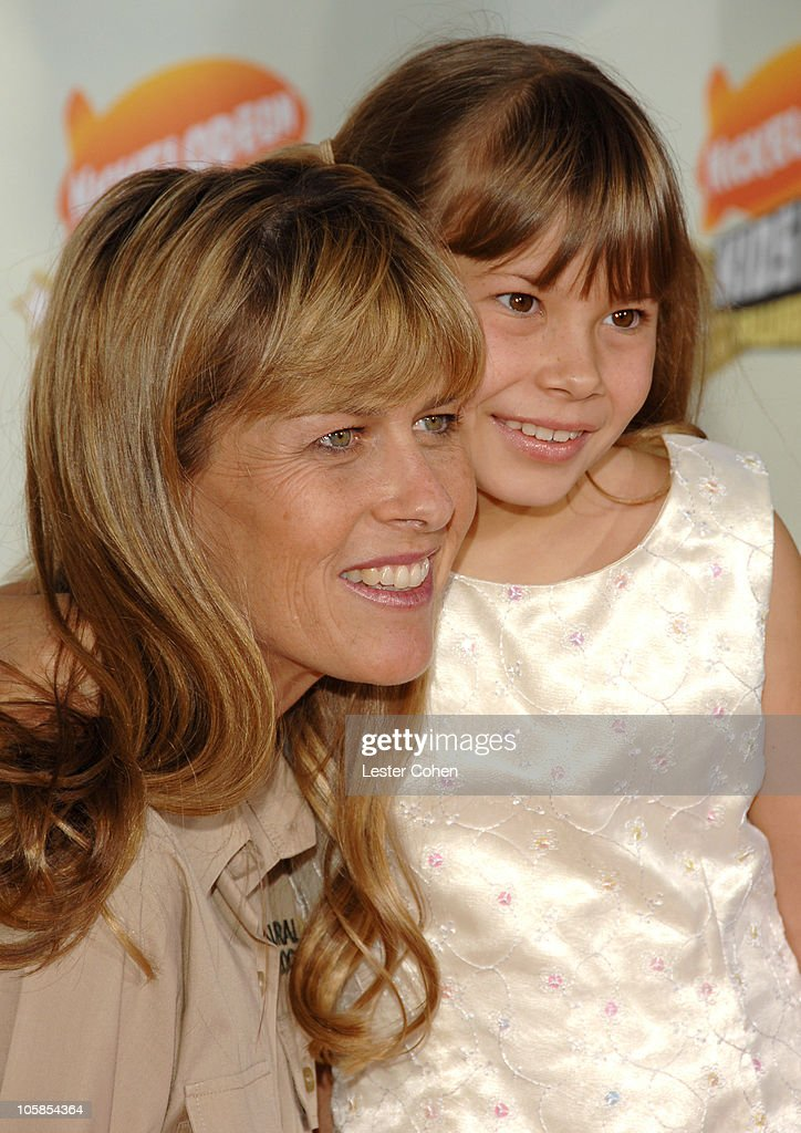 Terri Irwin and Bindi Irwin during Nickelodeon's 20th Annual Kids' Choice Awards - Arrivals at Pauley Pavilion in Westwood, California, United States.