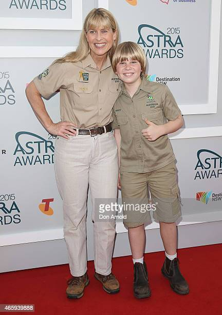 Terri Irwin and Bob Irwin arrive at the 2015 ASTRA Awards at the Star on March 12 2015 in Sydney Australia