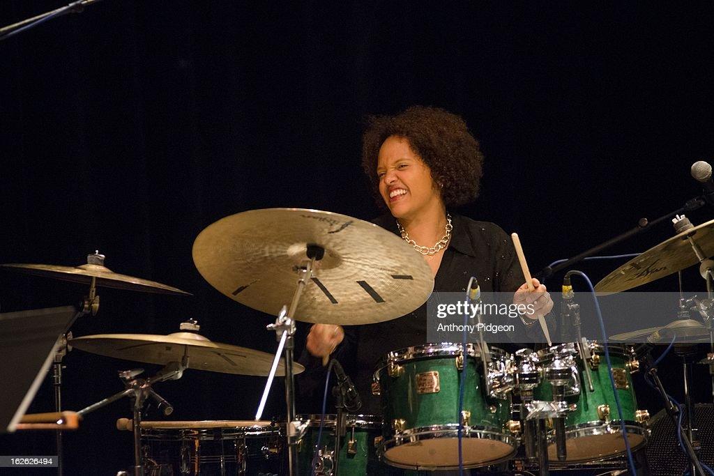 Terri Lynn Carrington of ACS (Allen Spalding Carrington) perform on stage at the PDX Jazz Festival on February 24, 2013 in Portland, Oregon.