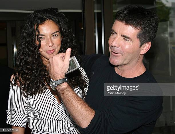 Terri Seymour and Simon Cowell during Dublin X Factor Auditions July 6 2006 at Jurys Ballsbridge Hotel in Dublin Ireland