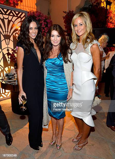 Terri Seymour Lisa Vanderpump and Lady Victoria Hervey attend the launch of the Seventh Annual BritWeek Festival 'A Salute To Old Hollywood' on April...
