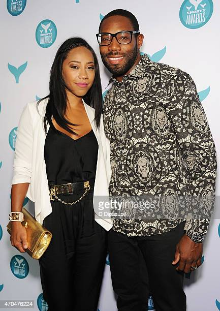 Terricka Cason and football player Antonio Cromartie attend The 7th Annual Shorty Awards on April 20 2015 in New York City