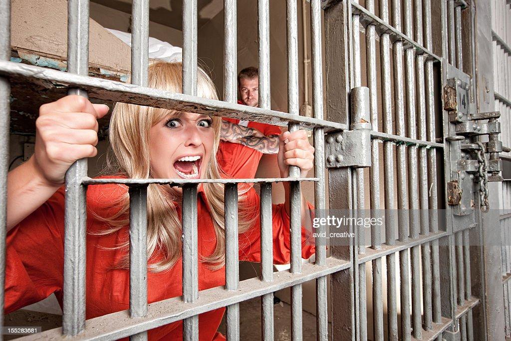 Terrified Female Inmate Screams For Help