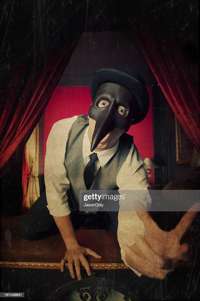 Terrifying Masked Man : Stock Photo
