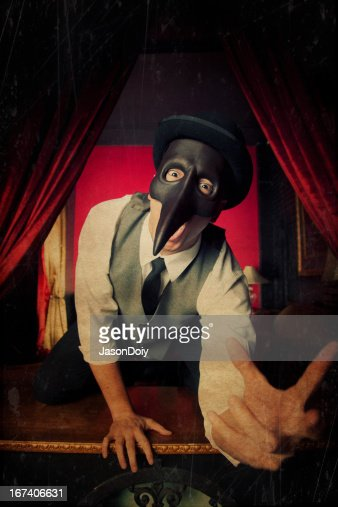 Terrifying Masked Man : Stock Photo