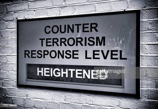 Terrorism warning sign