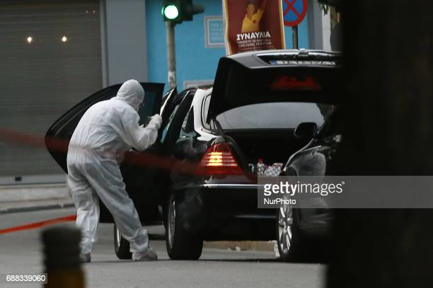 Terrorist attack on Lucas Papademos in central Athens on May 25 2017 Former Greek Prime Minister Lucas Papademos has been injured by an explosion...
