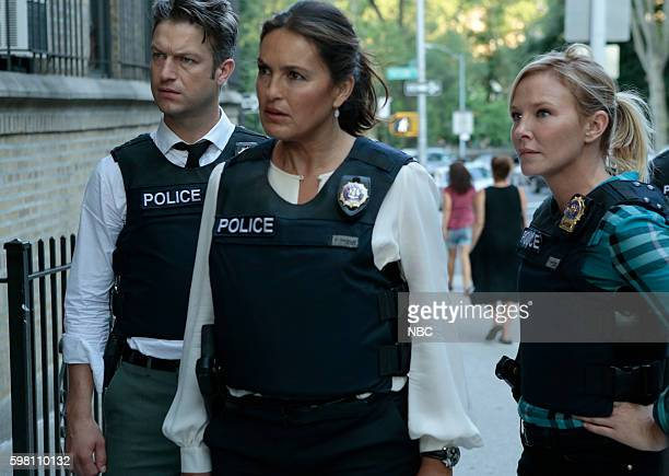 UNIT 'Terrorized' Episode 1801 Pictured Peter Scanavino as Dominick 'Sonny' Carisi Mariska Hargitay as Lieutenant Olivia Benson Kelli Giddish as...