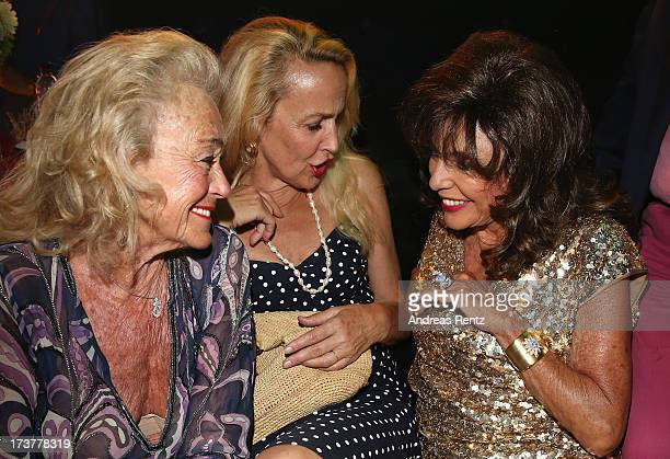 Terry Allen Kramer Jerry Hall and Joan Collins attend the Denise Rich annual party on July 17 2013 in SaintTropez France