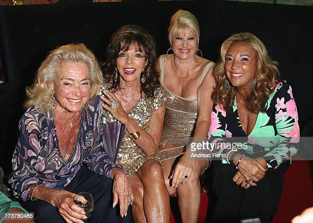 Terry Allen Kramer Joan Collins Ivana Trump and Denise Rich attend the Denise Rich annual St Tropez party on July 17 2013 in SaintTropez France