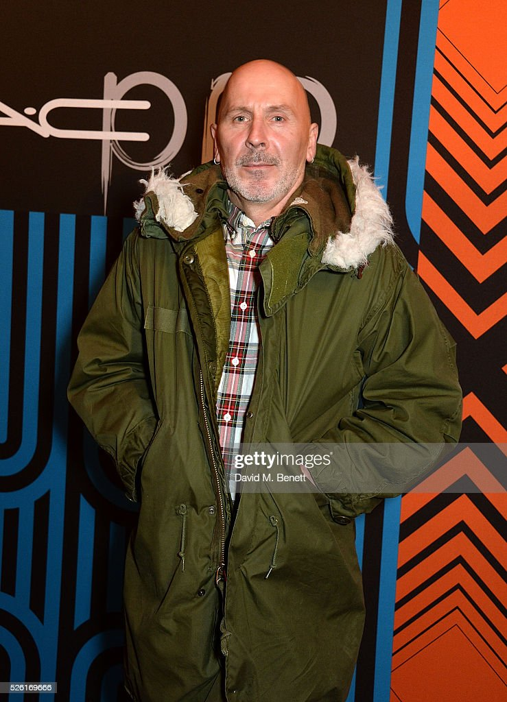 Terry Barber attends the MAC Pro to Pro Textile Party at London's Camden Roundhouse on April 29, 2016 in London, England.