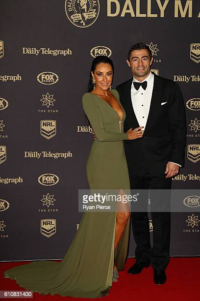 Terry Biviano and Anthony Minichiello arrive at the 2016 Dally M Awards at Star City on September 28 2016 in Sydney Australia