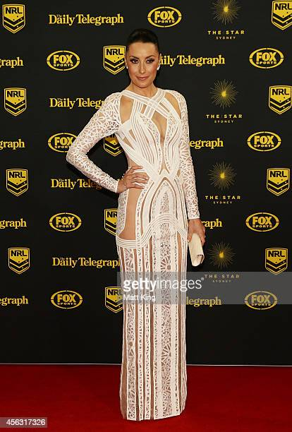 Terry Biviano arrives at the Dally M Awards at Star City on September 29 2014 in Sydney Australia