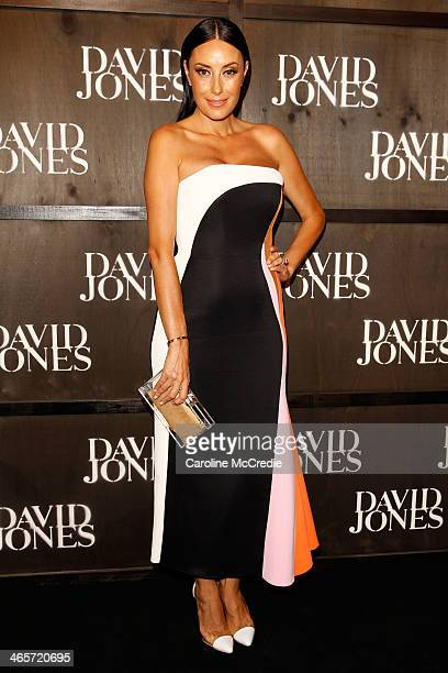 Terry Biviano arrives at the David Jones A/W 2014 Collection Launch at the David Jones Elizabeth Street Store on January 29 2014 in Sydney Australia