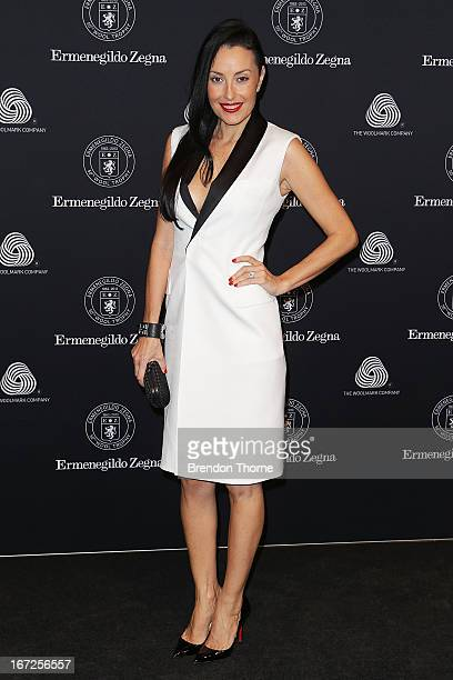 SYDNEY AUSTRALIA APRIL Terry Biviano arrives for the 50th Anniversary Wool Awards at the Royal Hall of Industries Moore Park on April 23 2013 in...