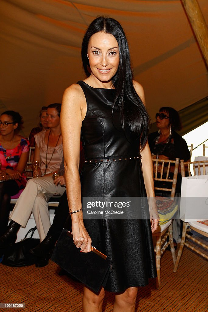 Terry Biviano attends the Camilla show during Mercedes-Benz Fashion Week Australia Spring/Summer 2013/14 at Centennial Park on April 10, 2013 in Sydney, Australia.