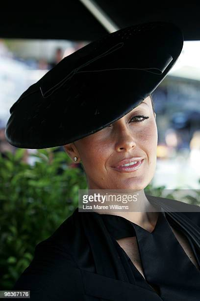 Terry Biviano attends the David Jones marquee during Australian Derby Day at Royal Randwick Racecourse on April 10 2010 in Sydney Australia