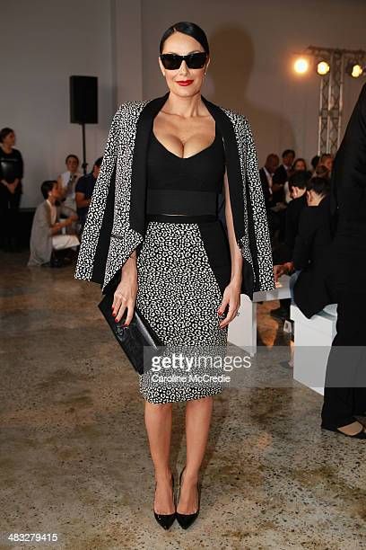 Terry Biviano attends the Ginger Smart show at MercedesBenz Fashion Week Australia 2014 at Level 1 55 Mentmore Ave Rosebery on April 8 2014 in Sydney...