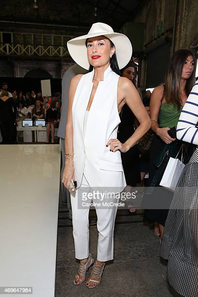 Terry Biviano attends the Maticevski show at MercedesBenz Fashion Week Australia 2015 at Bay 25 Carriageworks on April 14 2015 in Sydney Australia