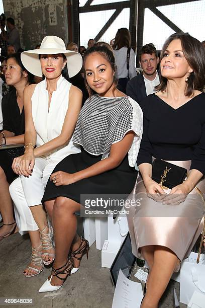 Terry Biviano Jessica Mauboy and Lisa Wilkinson attend the Maticevski show at MercedesBenz Fashion Week Australia 2015 at Bay 25 Carriageworks on...