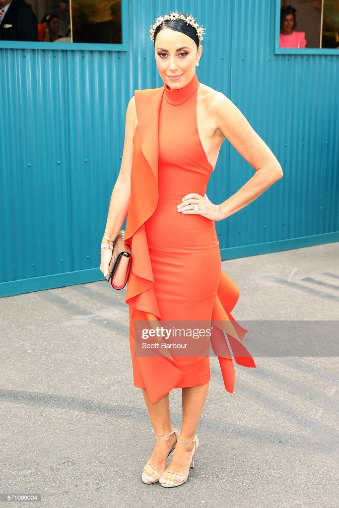 Terry Biviano poses at the ELLE Marquee on Melbourne Cup Day at Flemington Racecourse on November 7, 2017 in Melbourne, Australia.