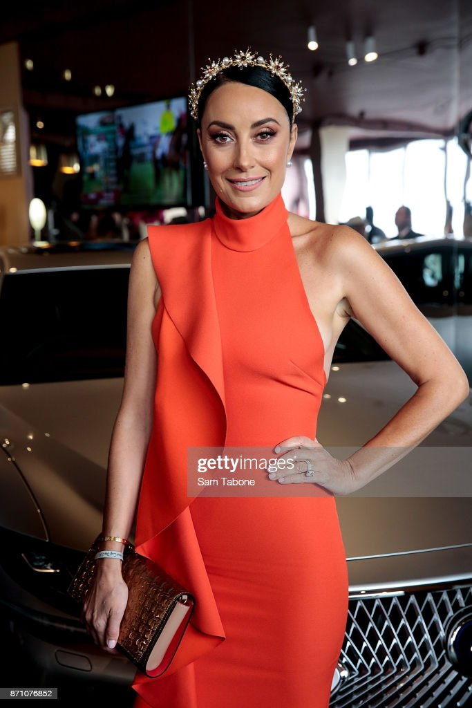 Terry Biviano poses at the Lexus Marquee on Melbourne Cup Day at Flemington Racecourse on November 7, 2017 in Melbourne, Australia.