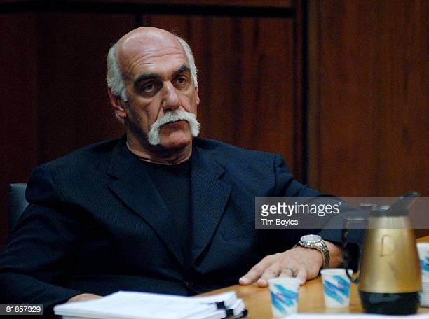 Terry Bollea known as Hulk Hogan listens as his attorney Ann Kerr argues in court during the former wrestler's divorce hearings from his wife Linda...