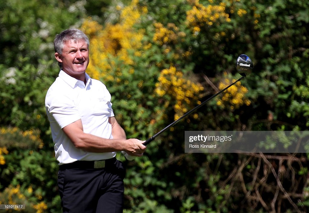 Terry Burgoyne during the second round of the Senior PGA Professional Championship at Northamptonshire County Golf Club on May 27, 2010 in Northampton, England.