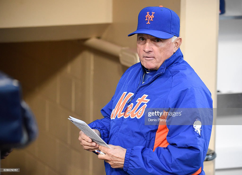 <a gi-track='captionPersonalityLinkClicked' href=/galleries/search?phrase=Terry+Collins&family=editorial&specificpeople=2593404 ng-click='$event.stopPropagation()'>Terry Collins</a> #10 manager of the New York Mets looks on from the dugout before a baseball game against the San Diego Padres at PETCO Park on May 5, 2016 in San Diego, California.
