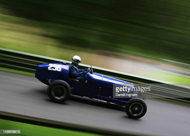 Terry Crabb drives the ERA R12C during the Vintage Sports Car Club Prescott Hill Speed Climb at the Prescott Hill on August 5 2012 near Cheltenham...