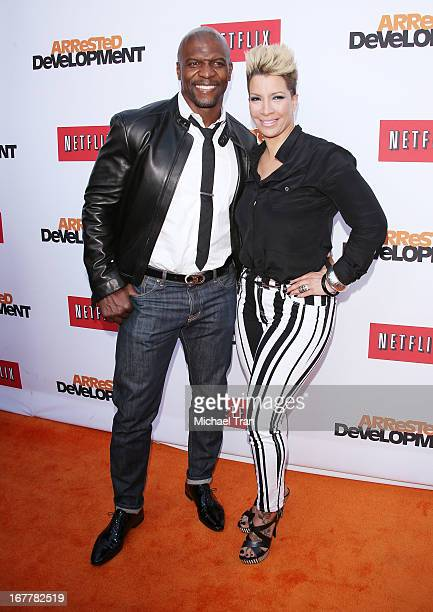 Terry Crews and Rebecca Crews arrive at Netflix's Los Angeles premiere of 'Arrested Development' season 4 held at TCL Chinese Theatre on April 29...