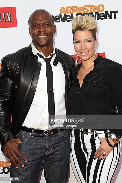 Terry Crews and Rebecca Crews attend the Netflix's Los Angeles Premiere Of 'Arrested Development' Season 4 at TCL Chinese Theatre on April 29 2013 in...