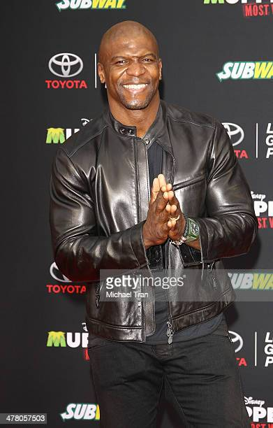 Terry Crews arrives at the Los Angeles premiere of 'Muppets Most Wanted' held at the El Capitan Theatre on March 11 2014 in Hollywood California