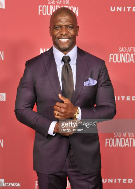 Terry Crews arrives at the SAGAFTRA Foundation Patron of the Artists Awards 2017 on November 9 2017 in Beverly Hills California