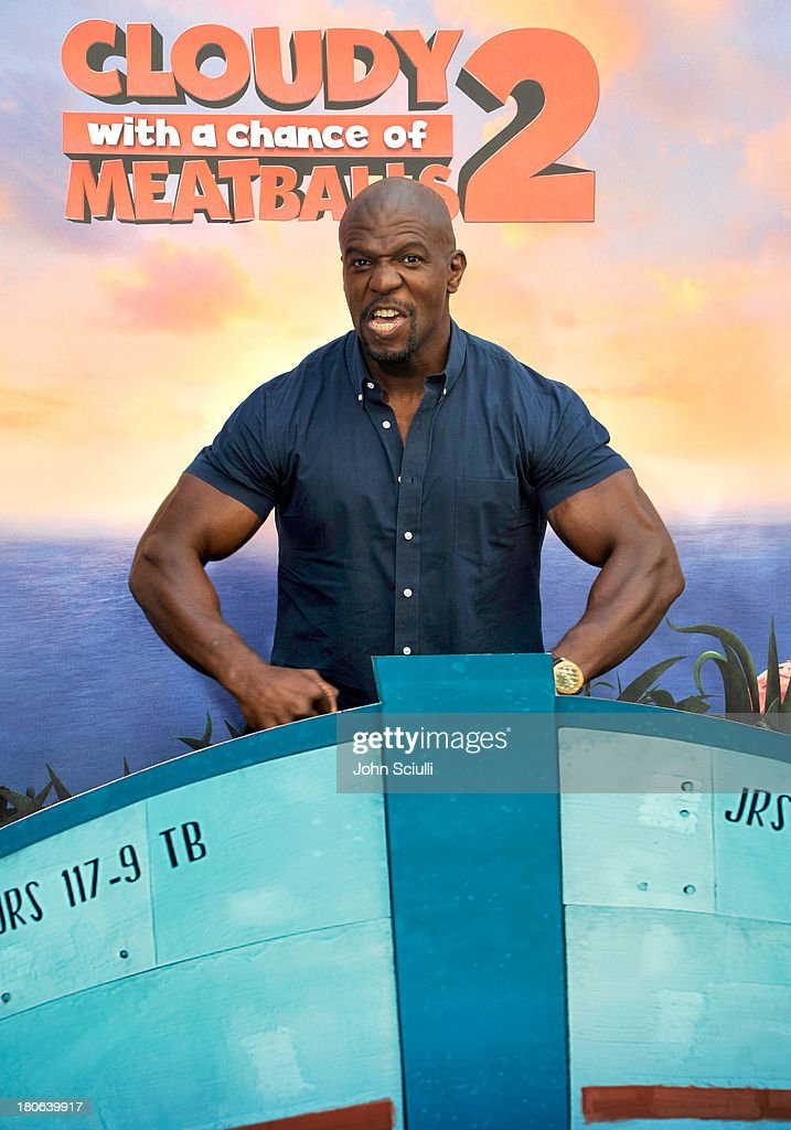 <a gi-track='captionPersonalityLinkClicked' href=/galleries/search?phrase=Terry+Crews&family=editorial&specificpeople=569932 ng-click='$event.stopPropagation()'>Terry Crews</a> attends Cloudy 2 junket photo call at the Four Seasons Hotel Los Angeles on September 15, 2013 in Los Angeles, California.