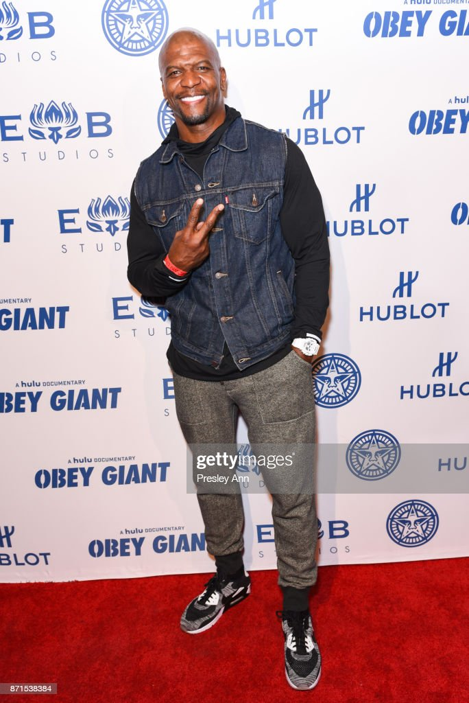 Terry Crews attends Photo Op For Hulu's 'Obey Giant' at The Theatre at Ace Hotel on November 7, 2017 in Los Angeles, California.